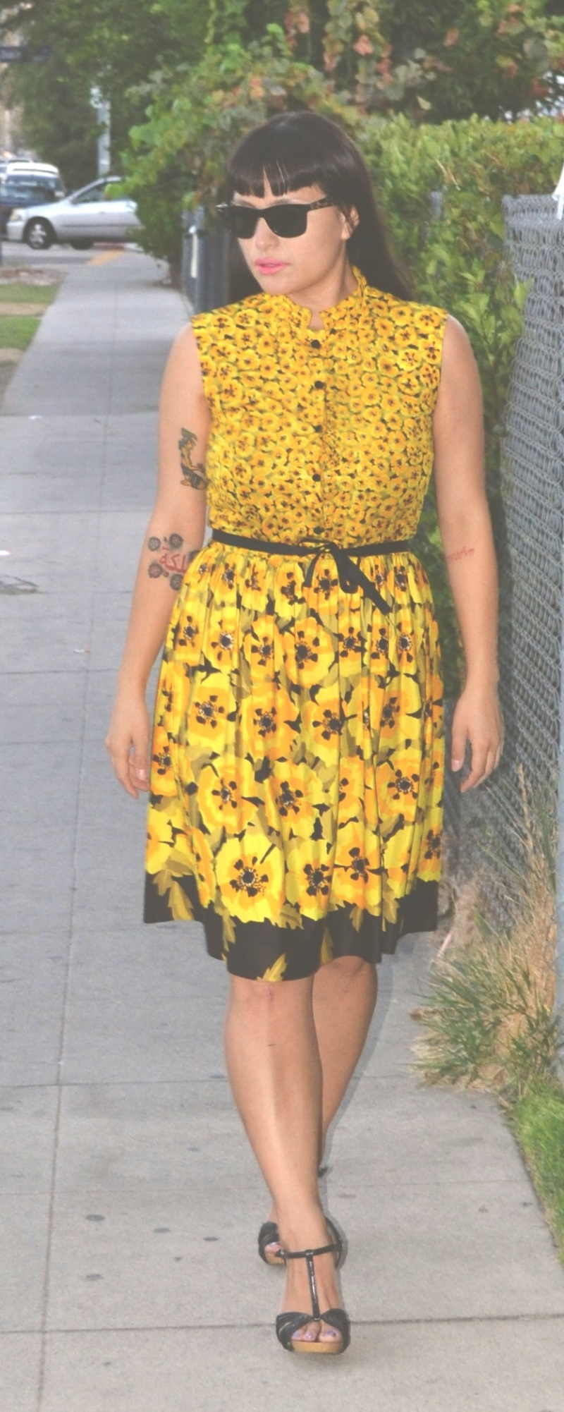 Vintage sacony flower print dress
