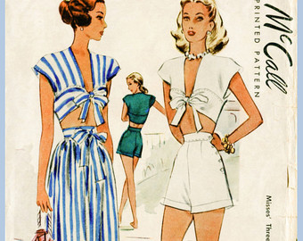 1940s 1950s playsuit
