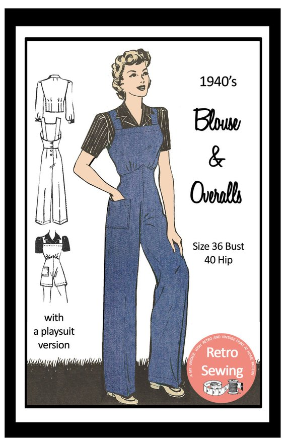 1940s jumpsuit 1940s workwear