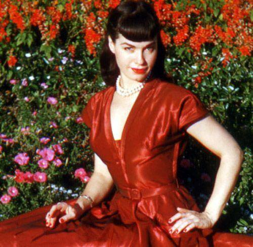 bettie-page-red-swing-dress